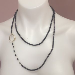Jewelry - Long navy blue necklace